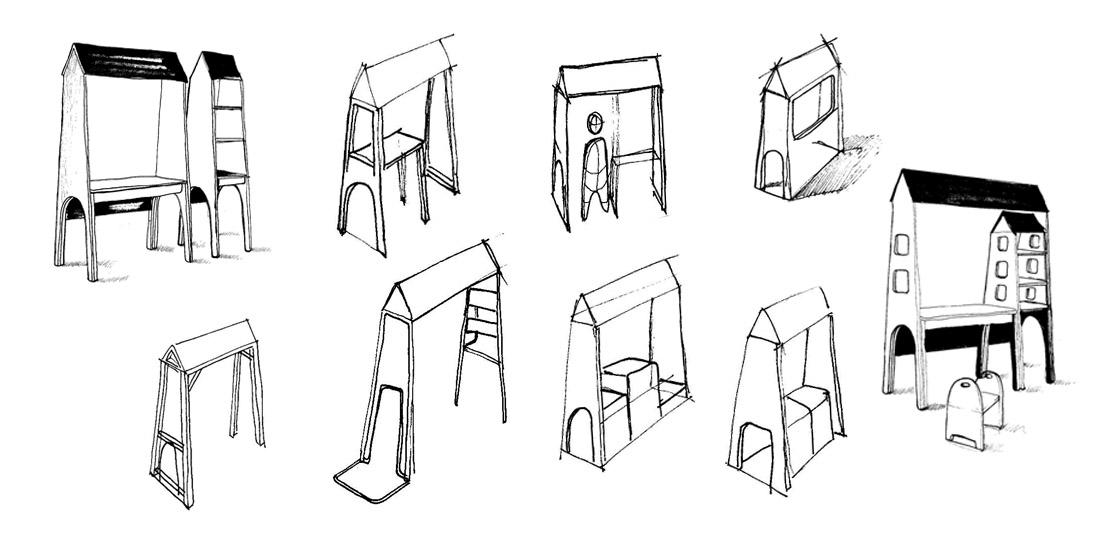 Croquis de mobilier design
