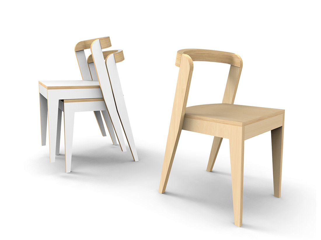 Chaise empilable open source design mobilier lille