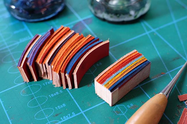 teinture cuir process