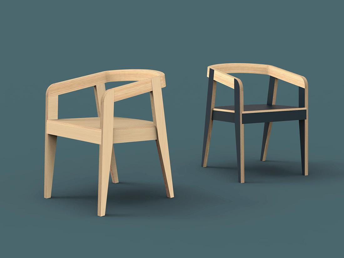 fauteuil contreplaqué open design lille