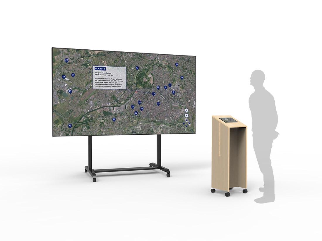 signalétique cartographie numérique des pocs