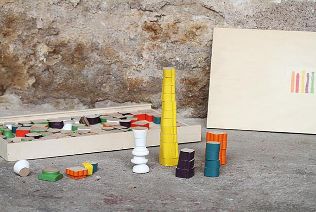 Puzzle 3D bois de récup, upcycling