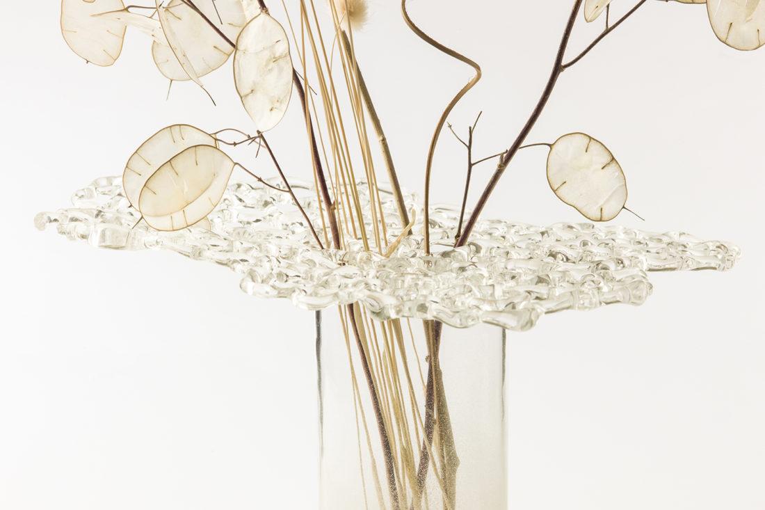 vase en dentelle de verre