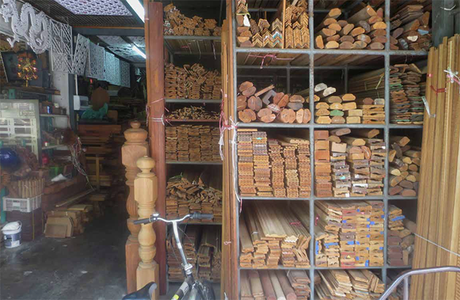 Wood market Bangkok