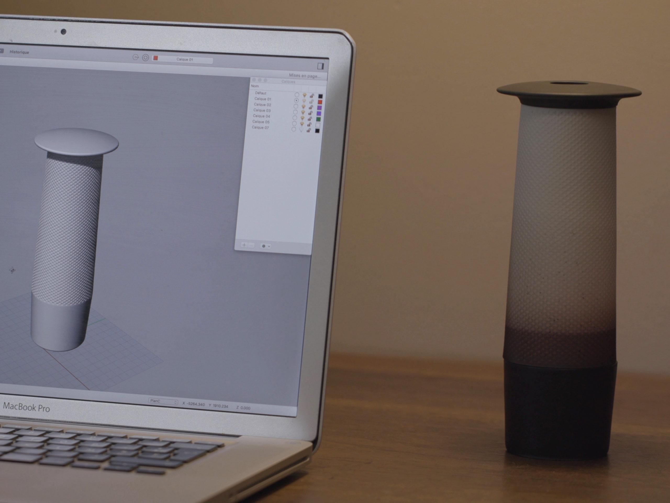process de design modelisation 3d