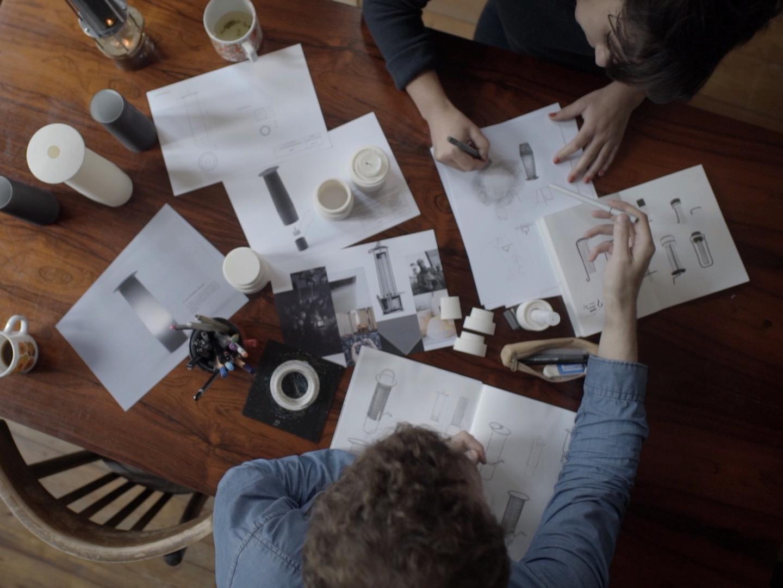 phase d'étude design, dessin croquis de designers