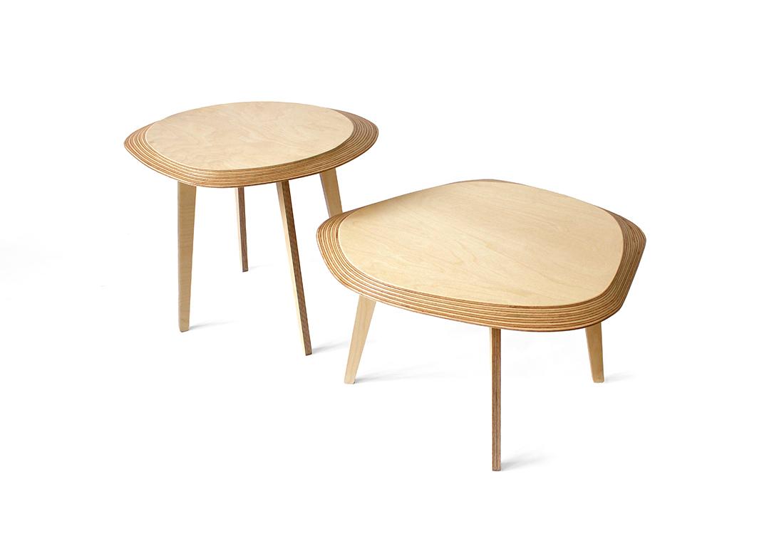 Tables basses Archipel réalisées par Jean-Baptiste Ricatte